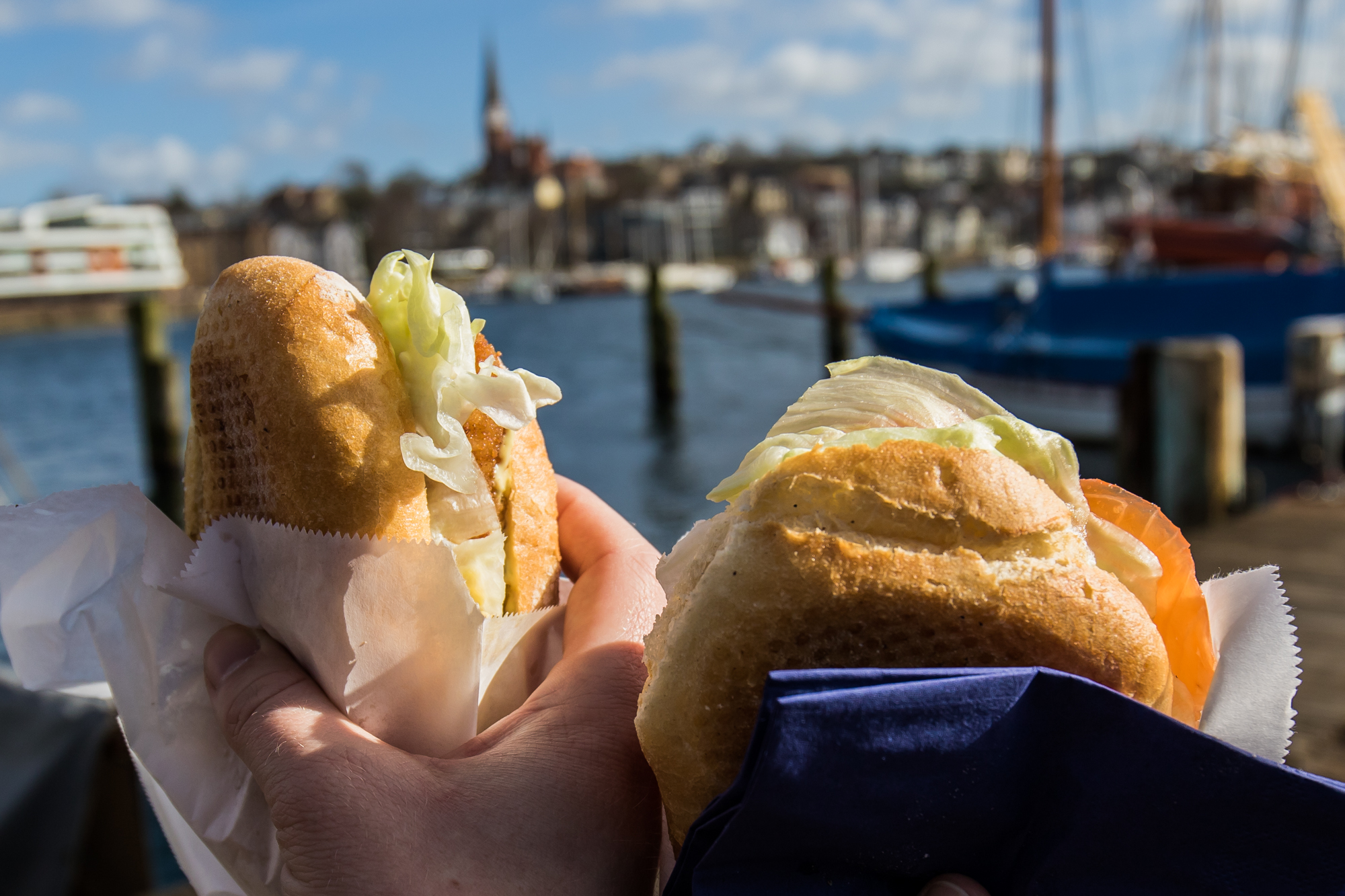 Flensburg Frühling Fischbrötchen
